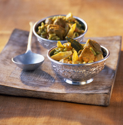Lamb and flageolet bean curry