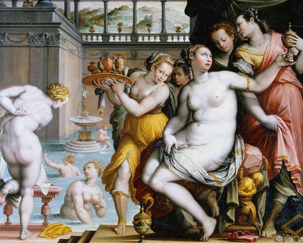 The Bath of Bathsheba by Jacopo Zucchi